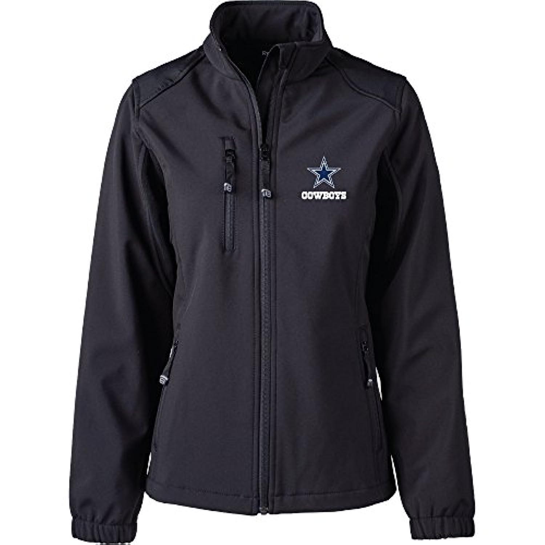 NFLダラス?カウボーイズWomen 's Softshellジャケット、XL、ブラック