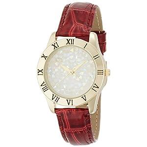 [フィールドワーク]Fieldwork 腕時計 ファッションウォッチ nattito テトラン 革ベルト レッド ASS100-4 レディース