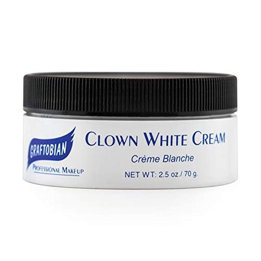 匹敵しますマンモスエスカレートClown White Creme Foundation (2.5 oz.) ピエロホワイトクリームファンデーション(2.5オンス)?ハロウィン?クリスマス?2.5 oz.