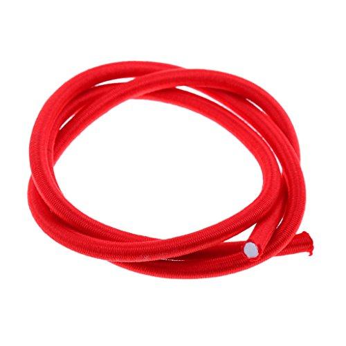 Sharplace 6ミリメートル  赤い 弾力 バンジー ロープ ショック コード タイ ダウン UV安定 全9サイズ - 赤, 1m