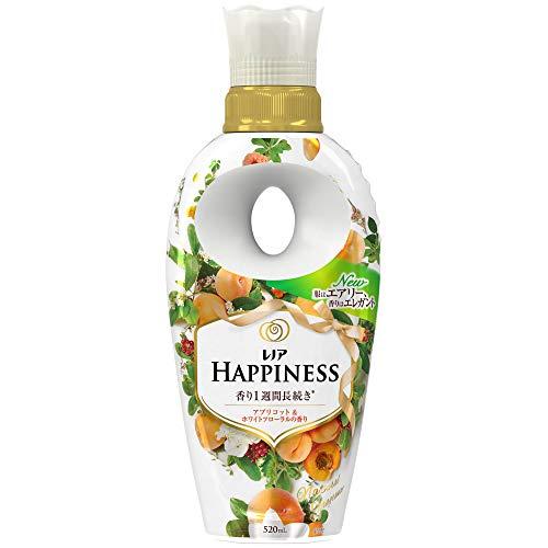 レノア ハピネス 柔軟剤 ナチュラルフレグランスシリーズ アプリコット&ホワイトフローラルの香り 本体 520mL