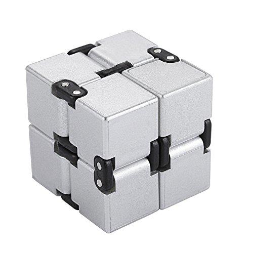 Fidget Infinity Cube Toys任意の方向と角度から回転 無限キューブ でき ストレス消し 悪習に改善して おもちゃ マジック(Cube 3 银)