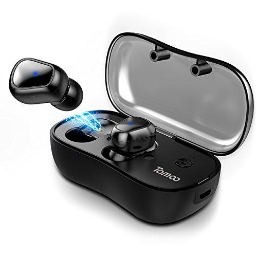 [Bluetooth5.0進化版] 両耳通話可能 自動ペアリング 自動ON/OFF Tamoo 完全ワイヤレス イヤホン 左右分離型 高音質 Bluetooth イヤホン ブルートゥース イヤホン T900 ブラック