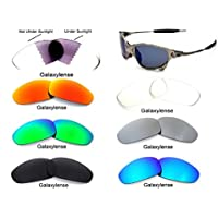 Galaxylense Men's Replacement Lenses For Oakley Juliet Sunglasses 7 Pairs S