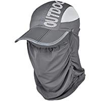SmartRICH 360度 UVカット 日よけ帽子, 日焼け防止 紫外線対策 帽子 通気 薄地 取り外し 調節可能 UPF50+ フェイスマスク ネックカバー