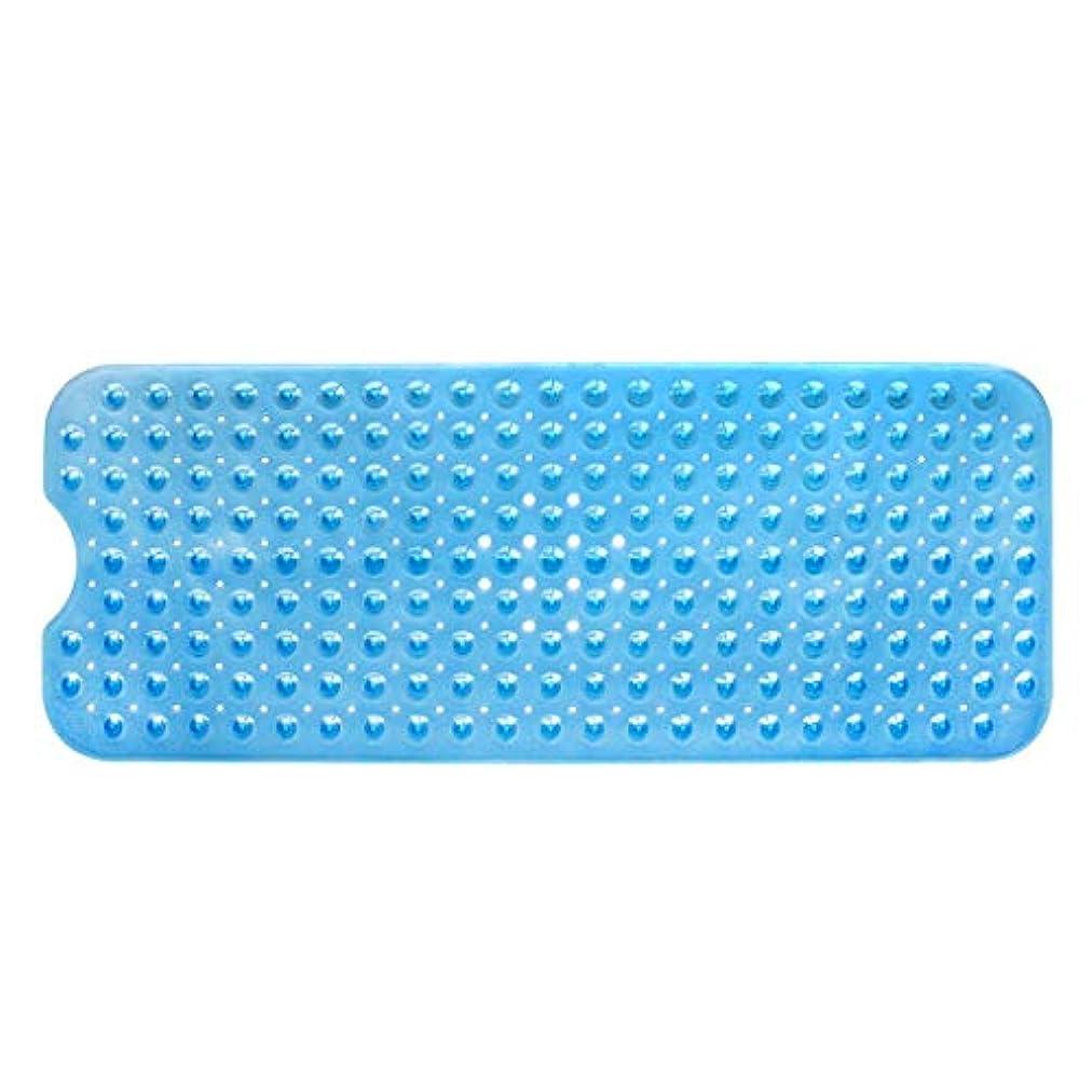 バイソン精度結紮Swiftgood エクストラロングバスタブマットカビ抵抗性滑り止めバスマット洗濯機用浴室用洗えるPVCシャワーマット15.7