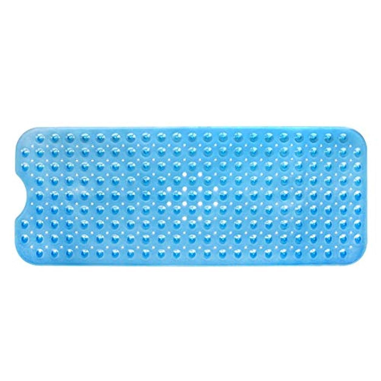 壮大な糞専門化するSwiftgood エクストラロングバスタブマットカビ抵抗性滑り止めバスマット洗濯機用浴室用洗えるPVCシャワーマット15.7