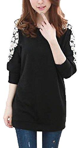 [해외](무상) 귀여움 만점! 고급 진주 바람 비스들이 꽃 무늬 레이스 튜닉 성인 여성 패션/(No brand) Cute full score! Elegant pearl style beaded floral pattern lace tunic adult women`s fashion