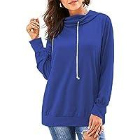 SERAPHY Hoodie Womens Casual Hooded Sling Hoody Jumper Hip Hop Sweatshirt Long Sleeve Pullover