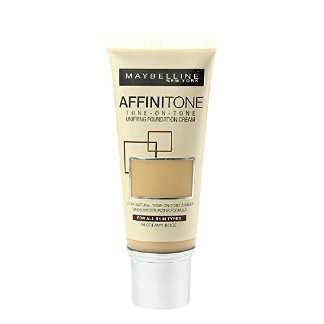 会員踏みつけ溶けるMaybelline Affinitone Perfecting & Protecting Foundation - 14 Creamy Beige by Maybelline
