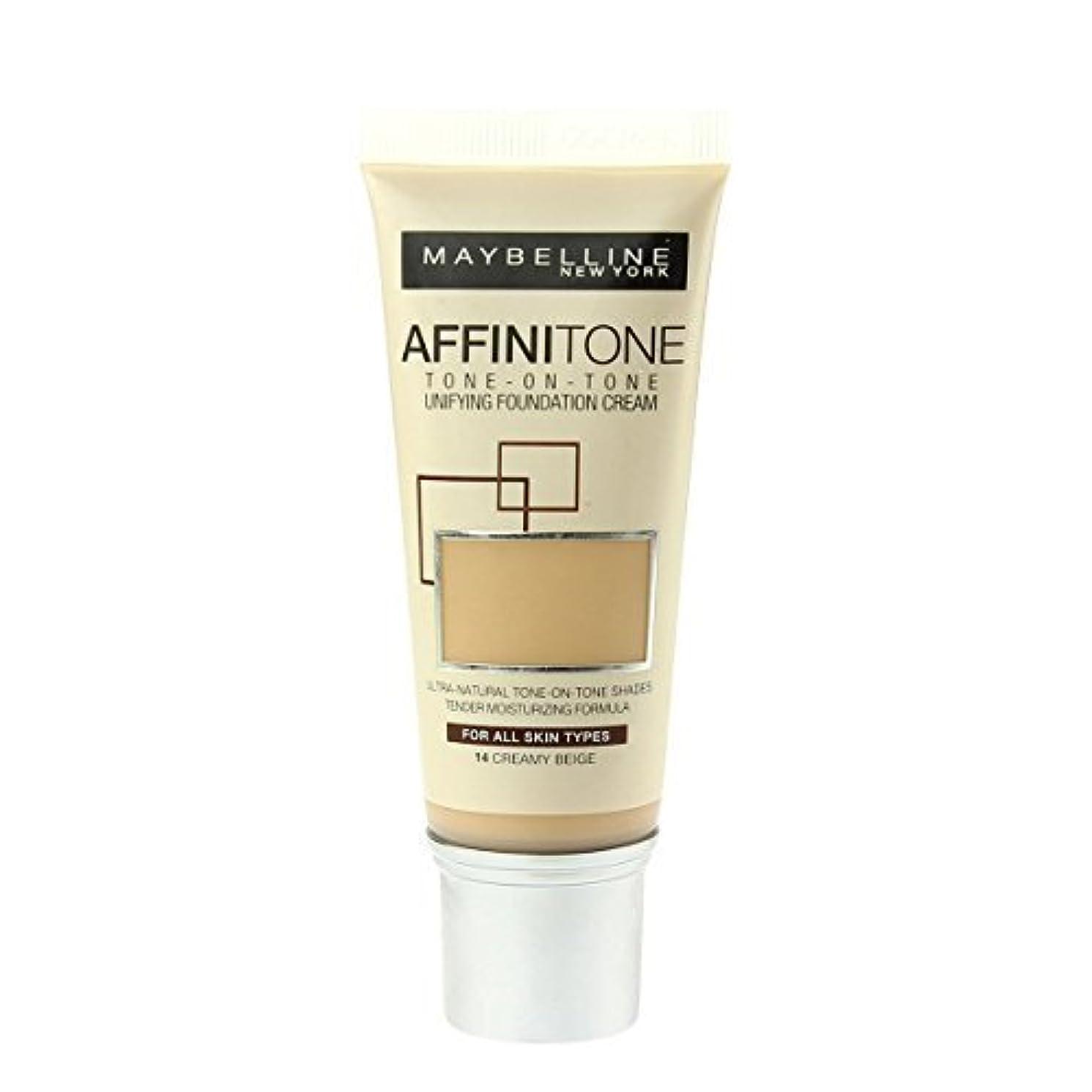 受けるここにアクティビティMaybelline Affinitone Perfecting & Protecting Foundation - 14 Creamy Beige by Maybelline