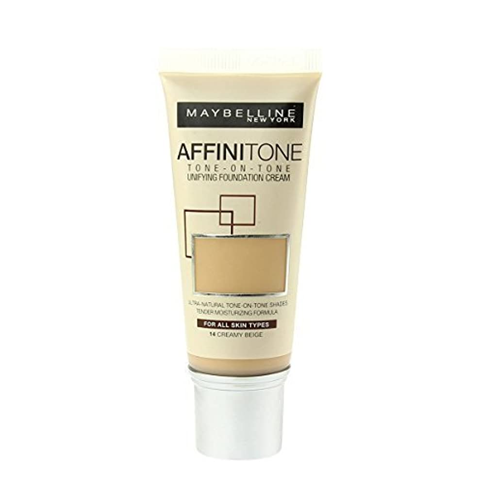 許す自発揃えるMaybelline Affinitone Perfecting & Protecting Foundation - 14 Creamy Beige by Maybelline