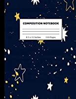 Composition Notebook: Wide Ruled Paper Notebook Journal | Cute Wide Blank Lined Workbook for Teens Kids Students Girls for Home School College Writing Notes | 8.5 x 11 Inches 110 pages