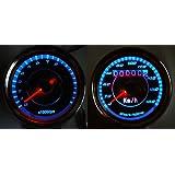 LED ミニ スピードメーター & タコメーター 【ADVANTAGE】 汎用 バイク 電気式 機械式 (スピードメーター(機械式)+タコメーター(電気式))