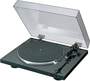 Denon デノン アナログ レコードプレーヤー フォノイコライザー付 フルオート カートリッジ付属 ブラック DP-300FK
