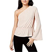 RACHEL Rachel Roy Women's One-Shoulder Bell-Sleeved Top Blush Pink Medium