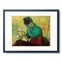 フィンセント・ファン・ゴッホ Vincent Willem van Gogh 「Une Liseuse de romans」 額装アート作品