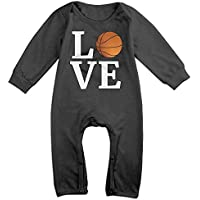 Love Basketball Long Sleeve Baby Bodysuit Bodysuit