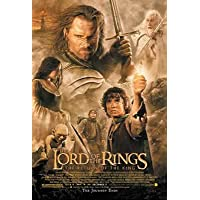 The Lord of the Rings – The Return of the – Framed映画ポスター/印刷レギュラースタイル(サイズ: 27