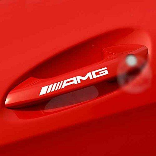 メルセデスベンツ AMG ドアノブ ミニステッカー 4枚入り (ホワイト)