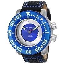 """腕時計 アンドロイド ANDROID Men's AD733BBUBU DM Gauge """"Blades"""" Analog Japanese-Automatic Blue Watch【並行輸入品】"""