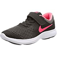 Nike Australia Revolution 4 (PS) Girls Running Shoes, Black/Racer Pink-White, 12 US