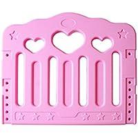 HUO ベッドガードレールベビーベッドベビーベッドフェンス1.2m / 1.5m / 1.8m大きなベッドサイドバリアチャイルドベッドバッフル 省スペース (色 : Pink, サイズ さいず : 60 cm 60 cm)