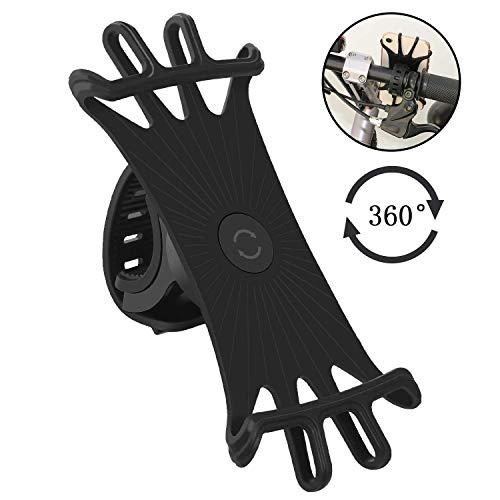 Anoser 自転車ホルダー スマホホルダー 自転車/バイク用スタンド シリコン製 超簡単に脱着 GPSナビ 360度回...