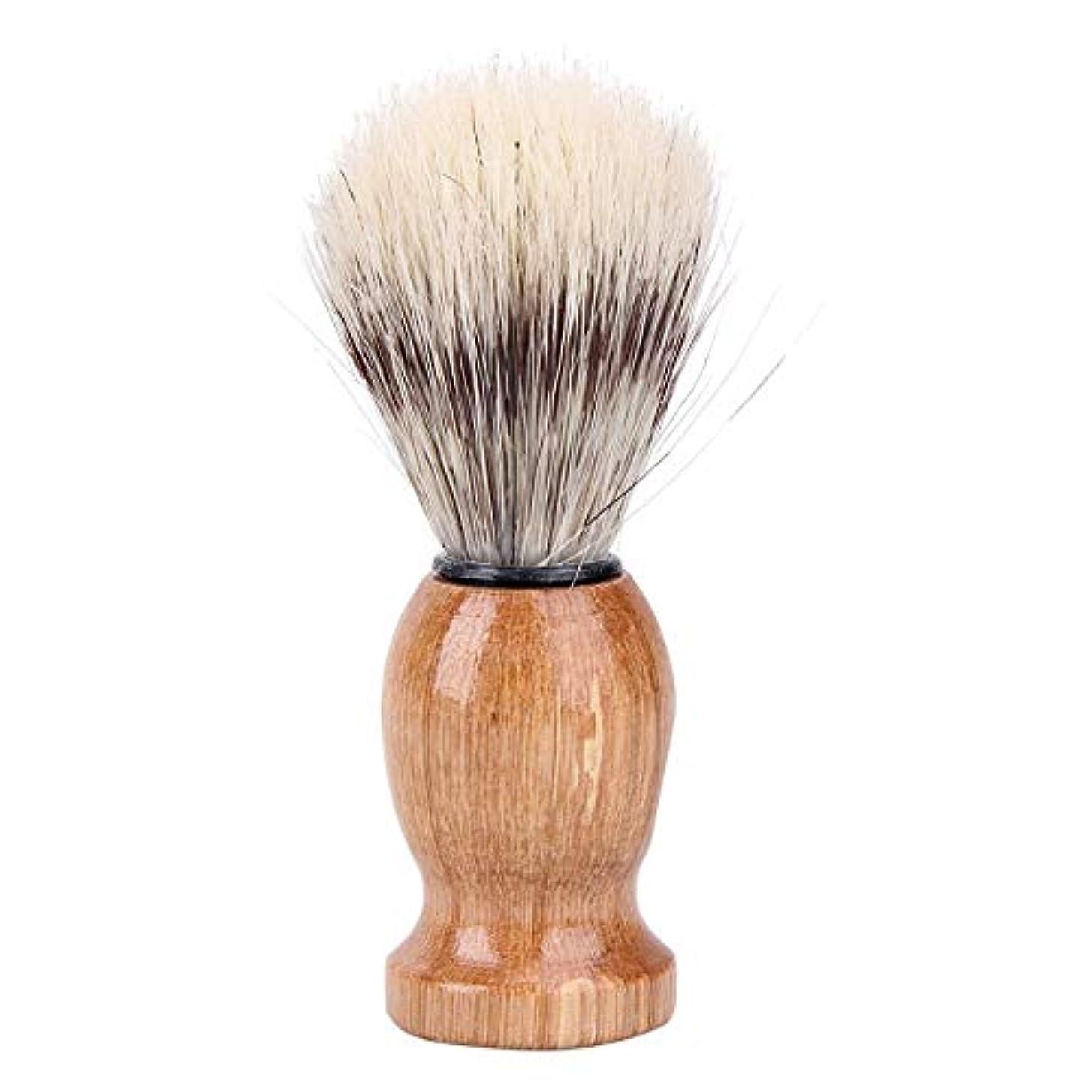九月うまくやる()学部1st market スタイリッシュで人気のある黒アナグマの髪の男性のシェービングブラシ床屋サロン顔ひげひげクリーニング