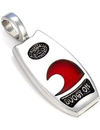 サーフ ビコ SURF BICO ウェーブ?ブギー ペンダント (BT52 赤) - カール?チェイサー - 樹脂とポリッシュドメタル 、トライバル?サーフ? ジュエリー