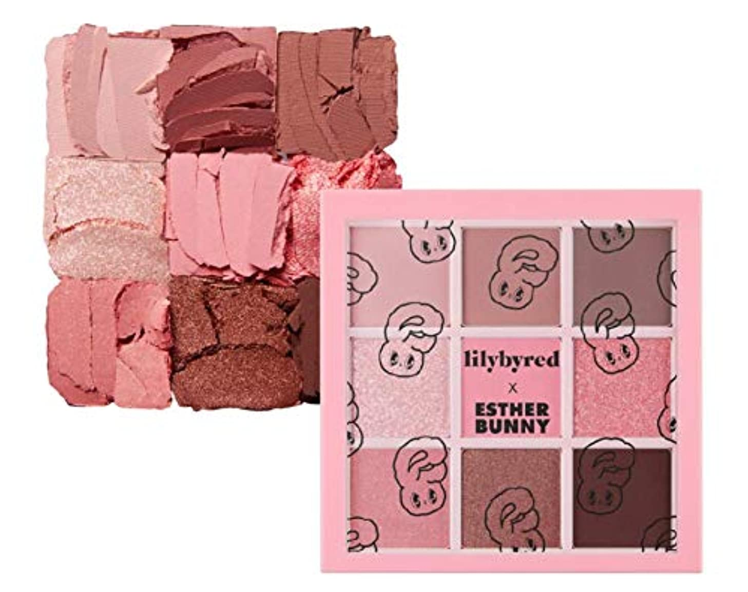 側面幸運な火星LILYBYRED [Esther Bunny Edition] ムードチートキット アイシャドウ パレット Mood Cheat Kit Eyeshadow Palette 02 Pink Sweets [並行輸入品]