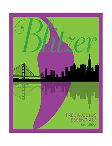 Download Precalculus Essentials (5th Edition) 0134578155
