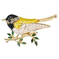 Stylebar ブローチピン 鳥 蜂 ブローチ パイナップル トンボ 21のオプション レディース ガールズ エナメル オーストリアンクリスタル 動物 昆虫 ブローチ ジュエリーコレクション