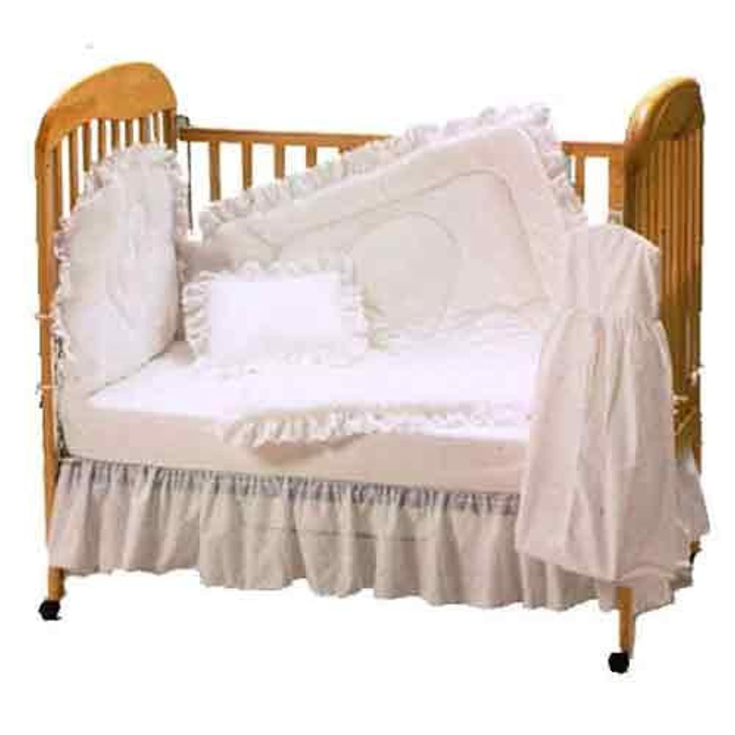 Baby Doll Bedding Carnation Eyelet Mini Crib/ Port-a-Crib Set, White by BabyDoll Bedding