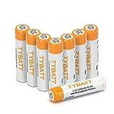 【 TYBATT 】乾電池 単4 8本パック 充電式電池 1.2V 1100mAh ニッケル水素 AAA 充電池 収納ケース2個付 約1200回使用可能 ケース付属【日本国内出荷】