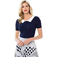 Review Women's Lovers Lane Knit Top Navy/White