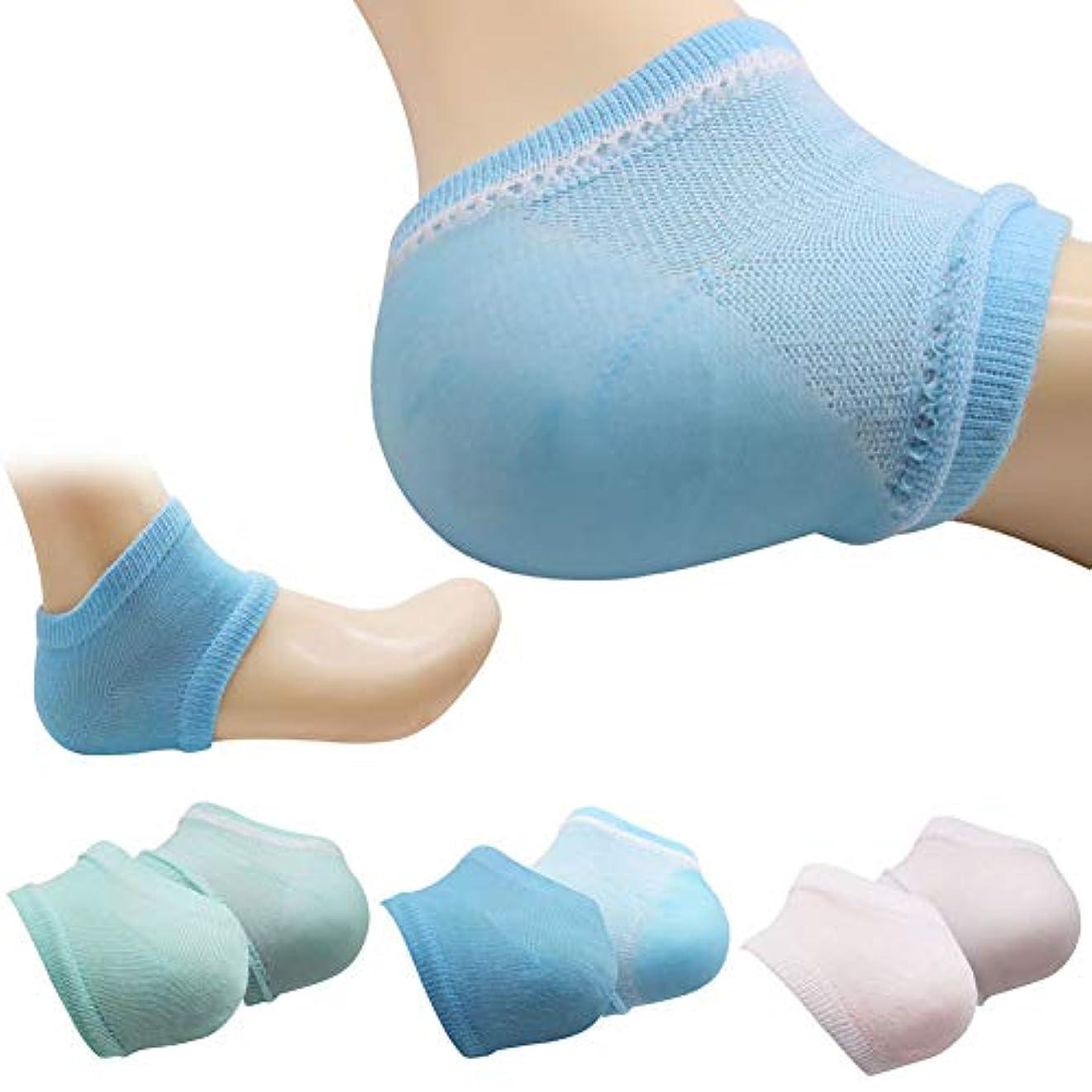 ポーズ症状北米K&TIME かかと 保湿ソックス かかと 靴下 ソックス かかとケア 靴下 角質ケア 滑らか スベスベ ツルツル ひび割れ ジェル 靴下 美容 足SPA 足ケア レディース フリーサイズ 3足セット