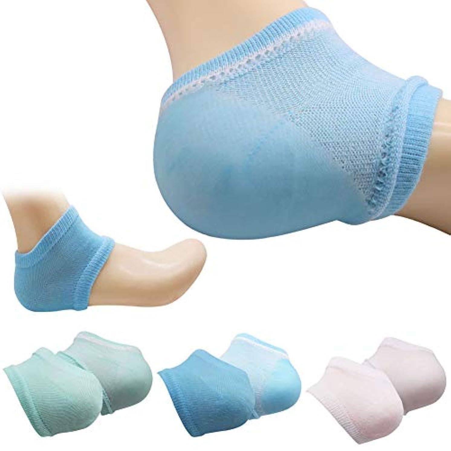 連合式サイトK&TIME かかと 保湿ソックス かかと 靴下 ソックス かかとケア 靴下 角質ケア 滑らか スベスベ ツルツル ひび割れ ジェル 靴下 美容 足SPA 足ケア レディース フリーサイズ 3足セット