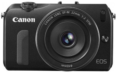 Canon ミラーレス一眼カメラ EOS M レンズキット EF-M22mm F2 STM付属 ブラック EOSMBK-22STMLK