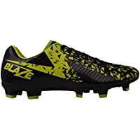 Official Sondico Blaze FG Firm Ground Football Boots Mens Black/Lime Soccer Shoes Cleats