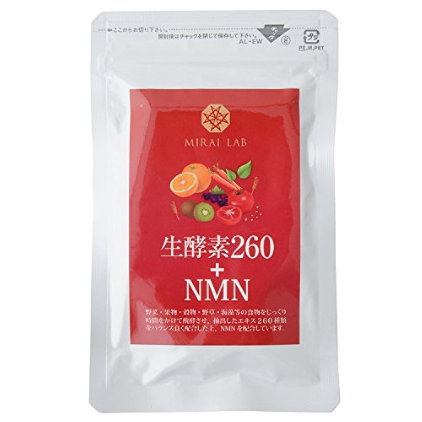 現実小競り合い注ぎます【 生酵素260+NMN 60粒】 NMN β-ニコチンアミドモノヌクレオチド 植物発酵エキス260種類 配合 Amazon限定3個セット