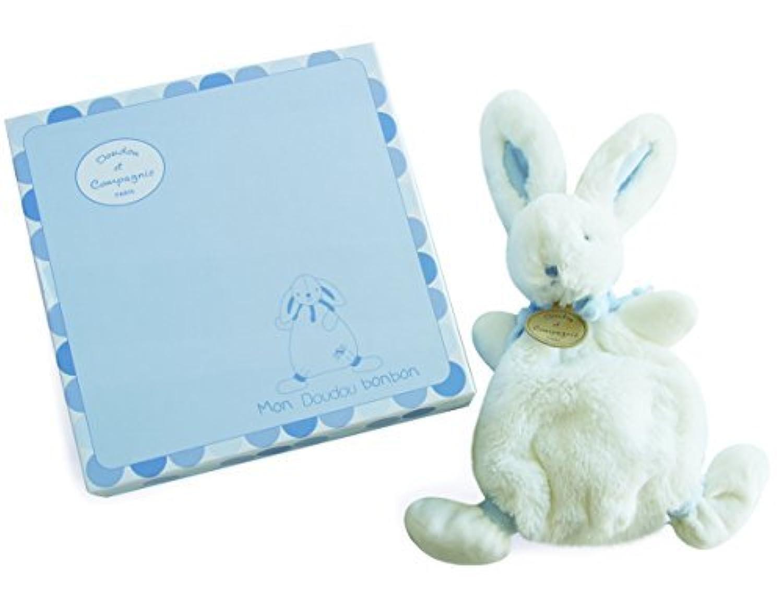 Doudou Et Compagnie Bonbon Flat Doudou Rabbit Gift Box (Blue) by Doudou et Compagnie
