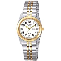 Citizen Ladies Quartz Two Tone Stainless Steel Watch EQ0514-57A