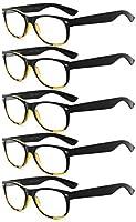 アイキーパー(Eyekepper)バネ蝶番 80年代風 リーディンググラス シニアグラス 老眼鏡 読書用 5本セット