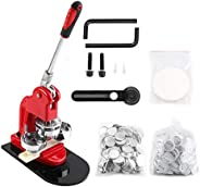 Button Maker Kit, 58mm Button Maker Machine Aluminum Alloy Badge Punch Press Machine with 1000 Button Parts