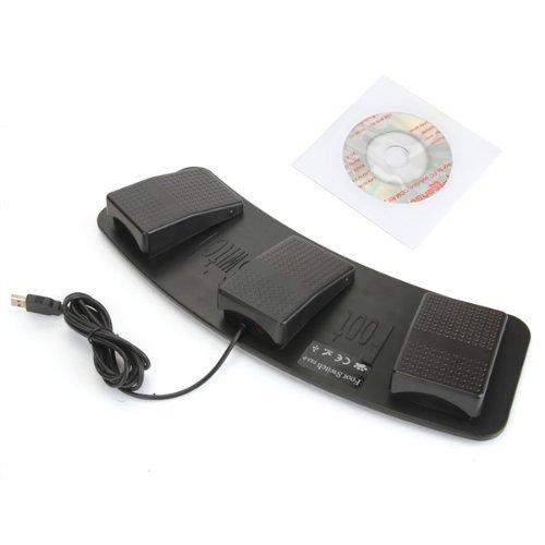 USB三連フットペダルスイッチ ショートカットを登録してPC作業効率アップ Windows用 FMTHUB3FB
