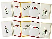すべての新しいウェディングカードロマンチックカードLoveカードグリーティングカード結婚ロマンス、マルチパック(パックof 10) for非常に特別な日、特別な行事、Getこれらの美しいカードNow 。