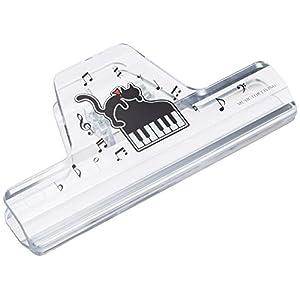 ナカノ ミュージック ブック クリップ クリア ネコとピアノ CLW-30/C/NP