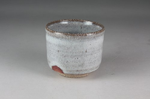 熊本千治(Chiharu Kumamoto) 斑唐津ぐい呑 唐津焼 陶器(直径約6cm 高さ約5.1cm)