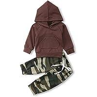 Wang Xiang Toddler Baby Boys Girls Long Sleeve Pocket Hoodie Sweatshirt Pants Outfits Sets